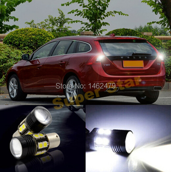 2 x 1156  BA15S  P21W High Power White For  Cree Chips  LED Rear Reversing Tail Light Bulb For  VOLVO S40 S80L XC90 XC60 V60 C30