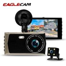 """Eaglecam Dash Cam Dual Lens Full HD 1080 P Auto DVR 4 """"Touch Dello Schermo della Videocamera di Visione Notturna Videocamera per auto di Parcheggio auto Registrar"""