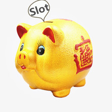 Ceramic golden pig piggy bank piggy bank piggy bank Large lucky pig decoration gift decoration стульчик для кормления сенс м серия babys лакированный арт piggy piggy