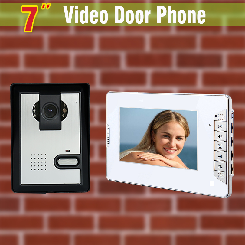 7 Inch Monitor Video Door Phone Intercom Doorbell system Video Intercom kit  video intercom system for home villa buy video monitor