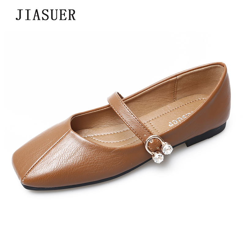 2018 Spring Autumn Mary Janes Woman Flats Buckle Strap Casual Square Toe Women Shoes Apricot Khaki Gray Black Size 35-41 цена и фото