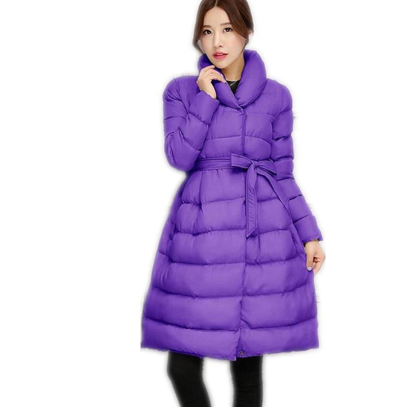 Épaissir Avec Et Bas Parkascq038 New Quatre Balck Le red Couleurs Jakcet Coton gray Vers ligne Réglable Taille 2018 purple Veste Mince A Femmes Hiver 46TcqW70S7