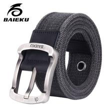 f645024817f0 BAIEKU mode casual hommes de coton ceinture 2018 nouveau unisexe style  Toile ceinture avec un jean