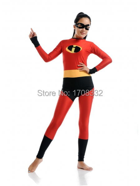 The Incredibles Elastigirl SuperHero costume red and black Spandex Elastigirl costume halloween costume Sell cheap  sc 1 st  AliExpress.com & The Incredibles Elastigirl SuperHero costume red and black Spandex ...