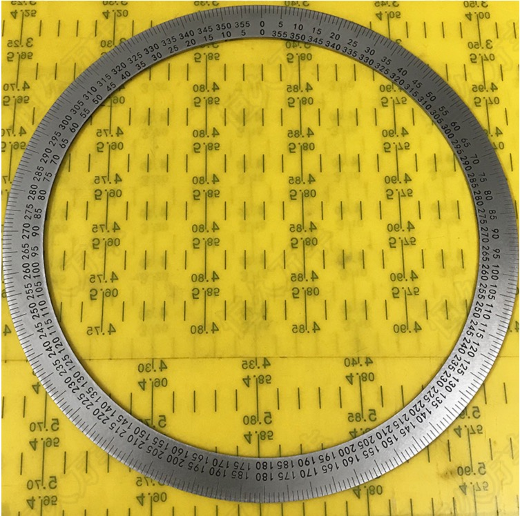Diameter 260mm Inner d 90mm Thickness 1mm 360 Degree Dial Plate Stainless Steel Disc