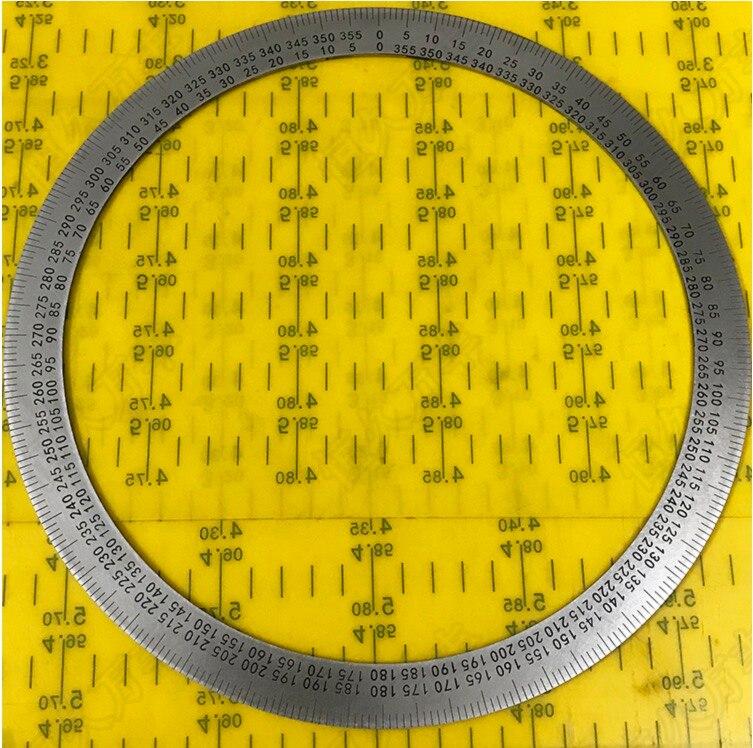 Diameter:260mm Inner d:90mm Thickness:1mm  360 Degree Dial Plate Stainless Steel DiscDiameter:260mm Inner d:90mm Thickness:1mm  360 Degree Dial Plate Stainless Steel Disc