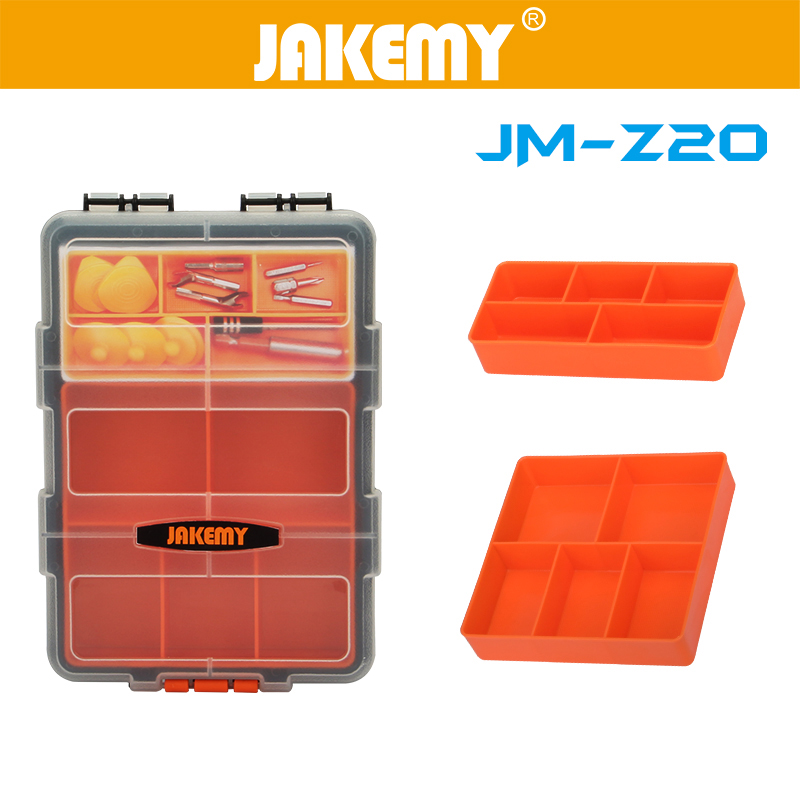 Jakemy JM-Z20 Multi-Purpose Plastic PP Transparent Components Storage Box for Tools Case Parts Toolbox for Repair