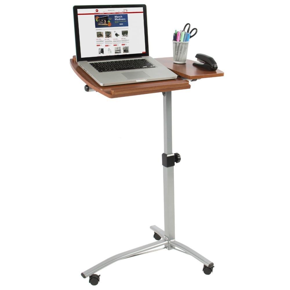 laptop fingerhut product desk wa cherry scl rolling finished uts alcove