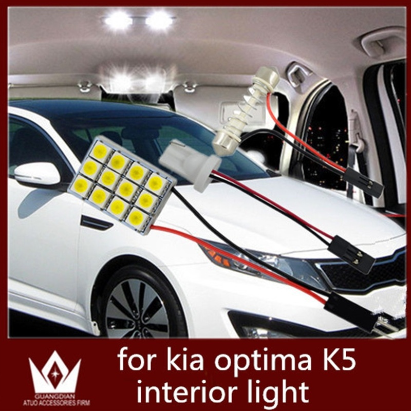 Guang Dian car led light Interior lamp Roof bulb Dome Panel Reading door led Trunk Light T10 festoon for Kia Optima K5 2010-2015 guang dian car interior lamp roof bulb