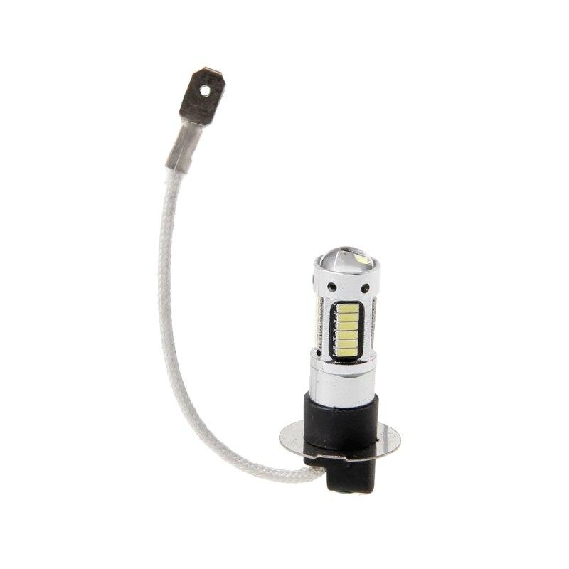 YAM H3 30W 4014 LED White Headlights DRL Light Kit Bulb Lamp 30SMD 6000K wired 30w 2700lm 6000k white light led spotlight lamp silver black 90 240v