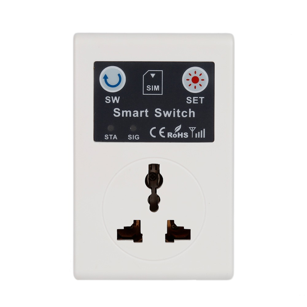 Professional 220V Phone RC Remote Wireless Control Smart Switch GSM Socket Power Plug for Home Household Appliance wholesale sc1 gsm gsm power socket phone rc remote wireless control smart switch power plug for smart home household appliance