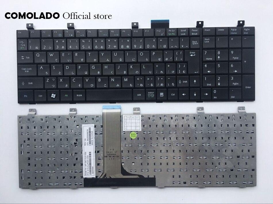 JP clavier d'ordinateur portable japonais pour MSI-1600 1656 CR6000 VX600 CX500 clavier noir JP mise en page
