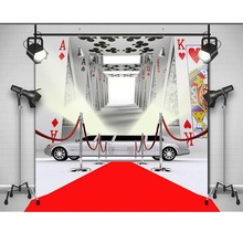 Carros Tapete Vermelho de Poker do Casino royale foto fundo do estúdio Vinil pano de Computador impresso pano de fundo da festa de Alta qualidade