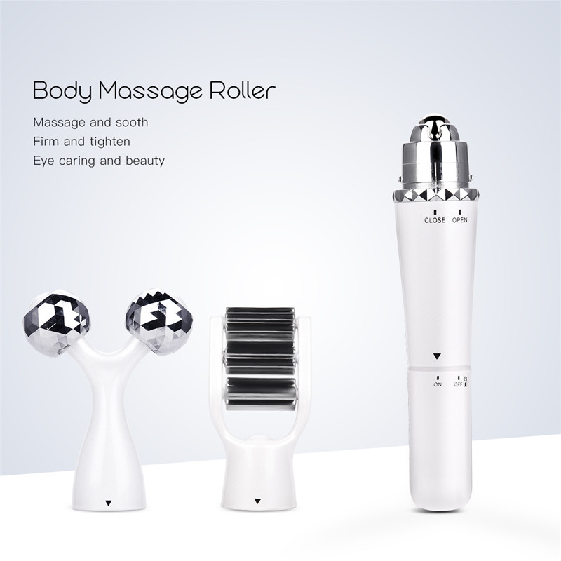 3 In 1 Portable Electric Eye Massager Skin Relive Fatigue Vibrate Body Neck Face Massage Roller Facial Lifting Anti Wrinkle 34