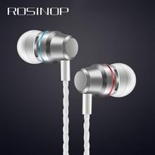 цена на Rosinop mini Earphone With Mic Noise Canceling Headphone Wired hi fi Bass Earbuds For Apple xiaomi Original Ear fone de ouvido