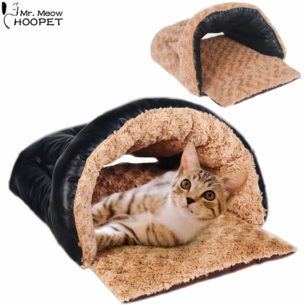 double sided dog cat selfwarming soft sleeping bag kitten pu snuggle sack bed kittey cozy cave pet burrow - Cozy Cave Dog Bed