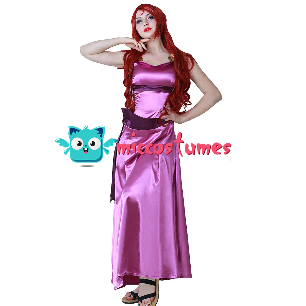 Hercules Princess Megara Cosplay Dress Costume Women Halloween Outfit