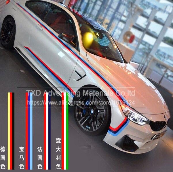 15cmx500cm5meter national flag italian flag side racing stripe 3 colors roof hood scooter