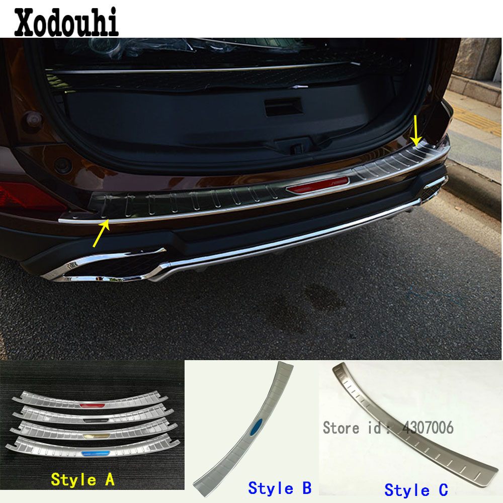 Car rear bumper trunk threshold door sill outer protector - Exterior door threshold replacement parts ...