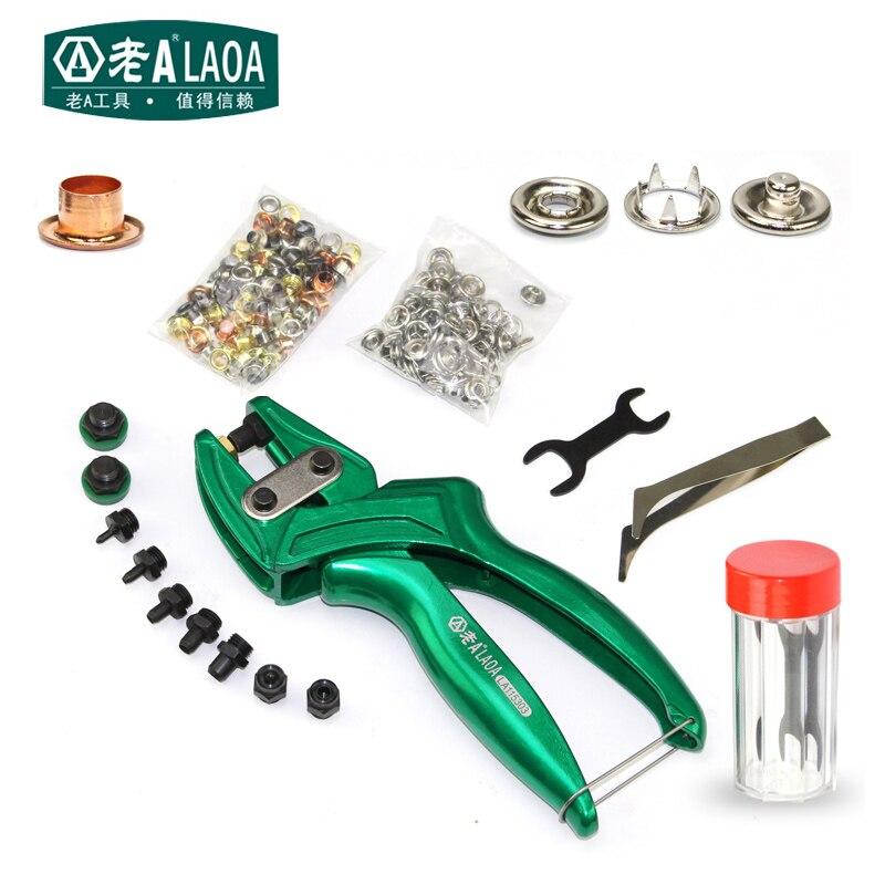 LAOA multi-fonction Pince À Poinçon En Cuir d'alliage D'aluminium Oeillet Puncher Ceinture Bouton coup de poing Pince fabriqué à Taiwan
