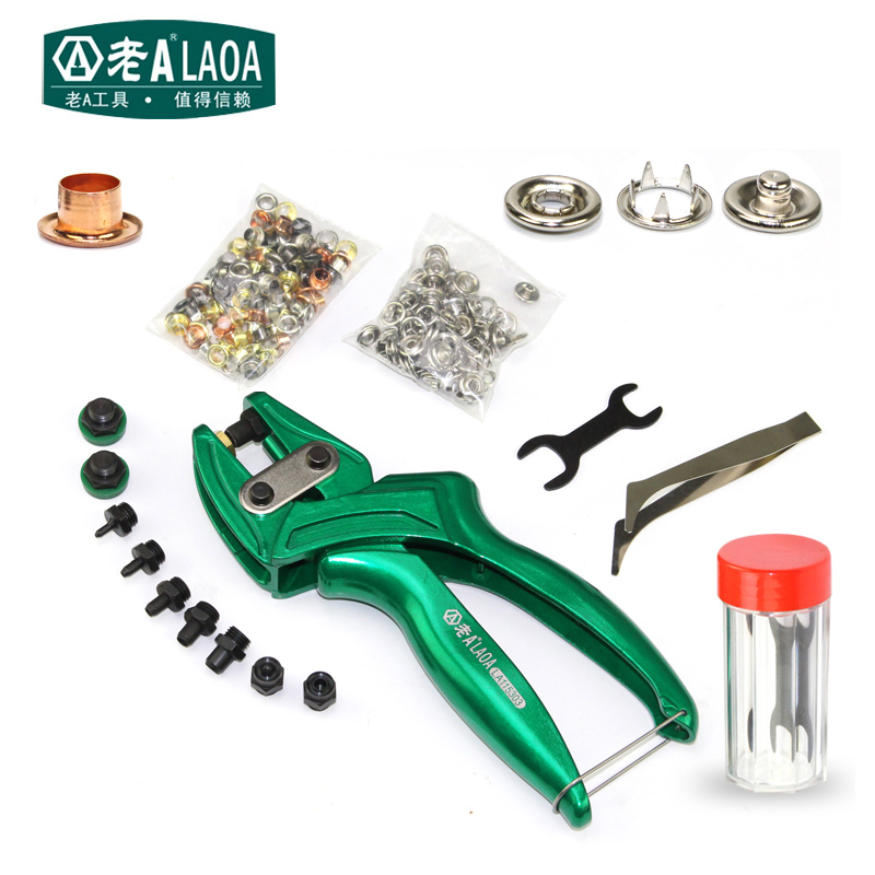 купить LAOA Multi-fonction Leather Punch Pliers High Quality Aluminium alloy Eyelet Puncher Belt punch Button Plier по цене 1892.37 рублей