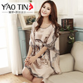 night dress women's royal batwing sleeve nightgown satin robes femme plus size silk robes for women sleepwear sexy lingerie