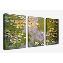 Wall Decor Water Lilies Claude Monet Oil Painting Canvas Art Printed Picture for Living Room Home Interior Decoration