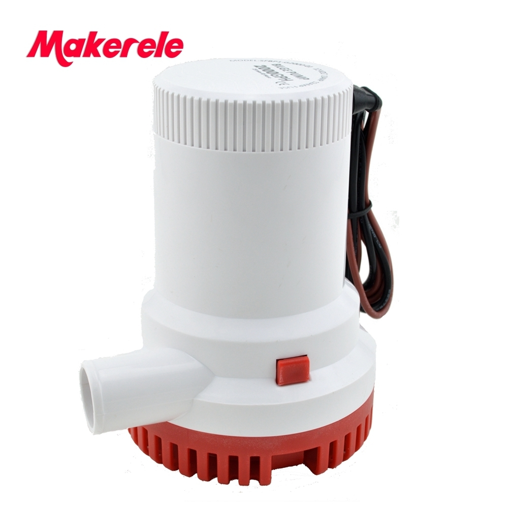 MKBP-G2000-12/24 water pump submersible 12/24V 2000GPH bilge pump, High Flow Submersible Marine Boat Electric Bilge Pump H1E1 sailflo new mini bilge pump marine water aspirator fountain submersible yacht boat electric marine bilge pump