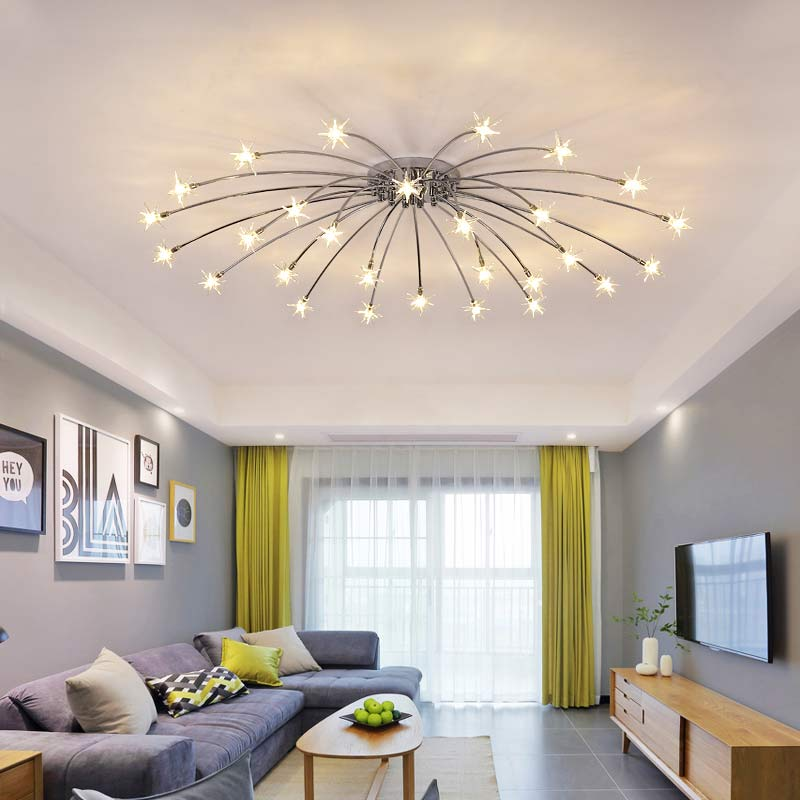 Chrome Led Lamp Moder Design Chandeliers For Living Room Bedroom Kitchen  Foyer Light Fixtures Lustre Decor