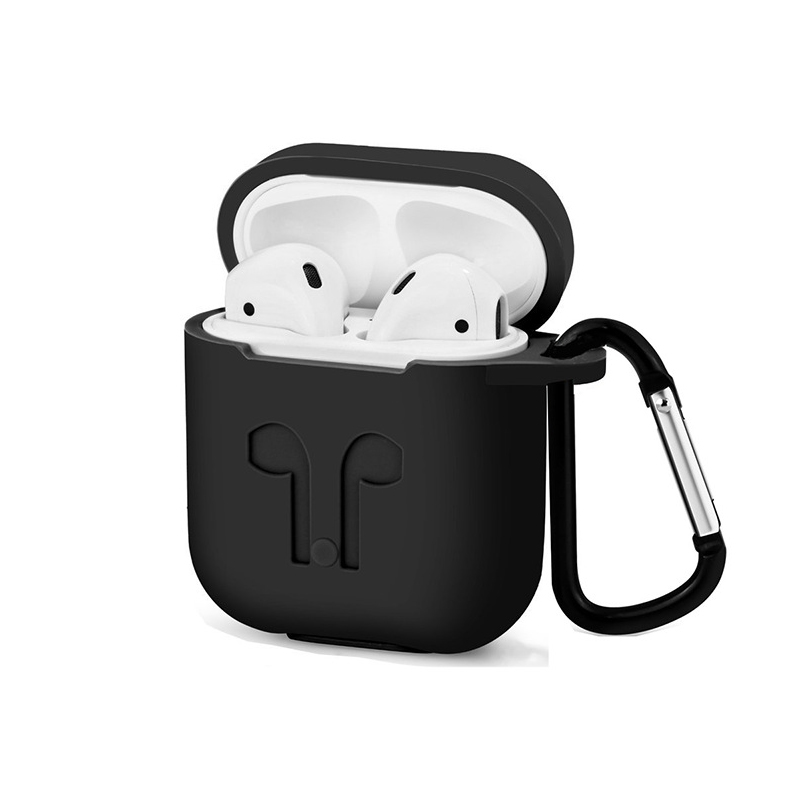 For Apple Airpods Silicone Case Soft Cover Protector with Dust Plug Anti Lost Strap Sleeve Pouch for Air pods Earphone (9)