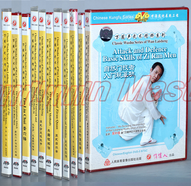 US $179 9 |Classic Wushu Series Of Wan Laisheng Kung Fu Teaching Video  English Subtitles 11 DVD-in Martial Arts from Sports & Entertainment on