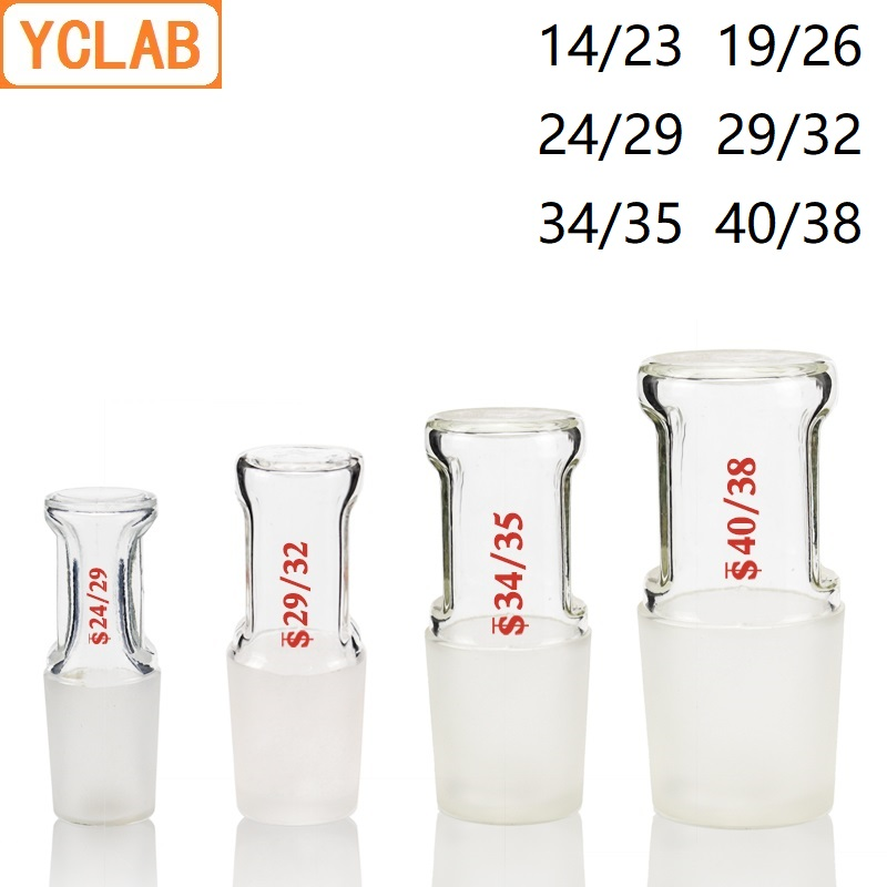 YCLAB Glass Stopper Hollow 14/23 19/26 24/29 29/32 34/35 40/38 Standard Ground Mouth Laboratory Chemistry Equipment