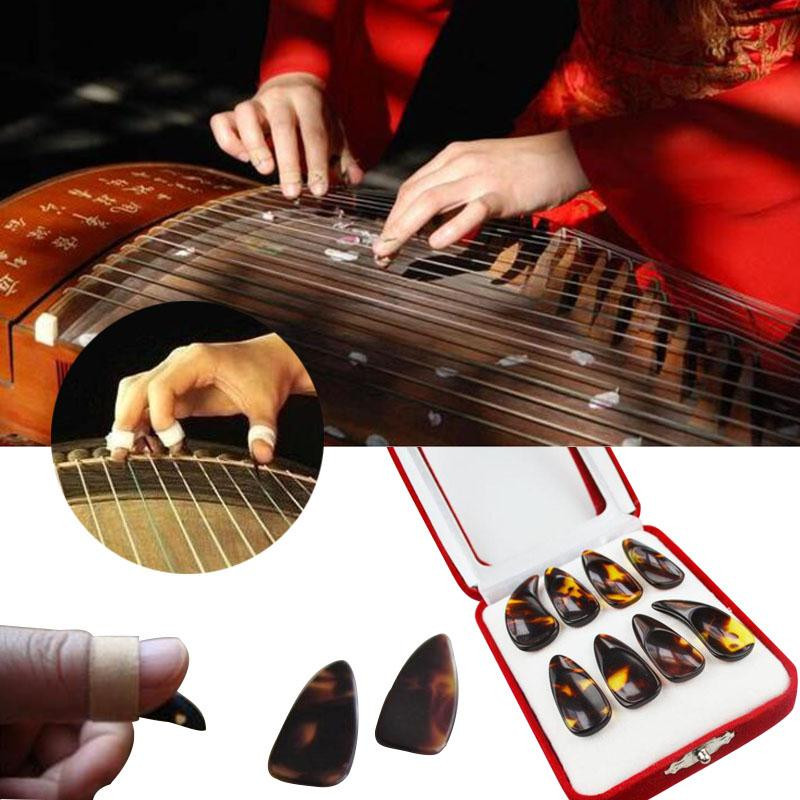 4pcs Finger Pick Protector für chinesische Guzheng Zither Pipa Lute
