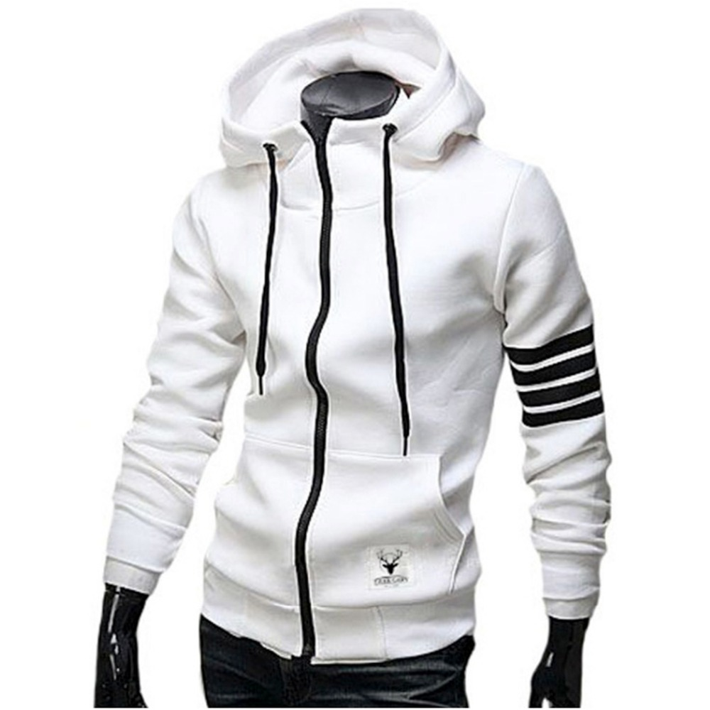Men White Hoodie | Fashion Ql