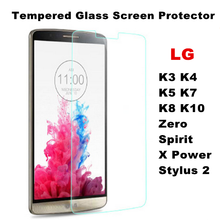 Premium Tempered Glass Film Screen Protector For LG K3 K4 K5 K7 K8 K10 X Power Zero Spirit Stylus 2 Glass With Cleaning Tools