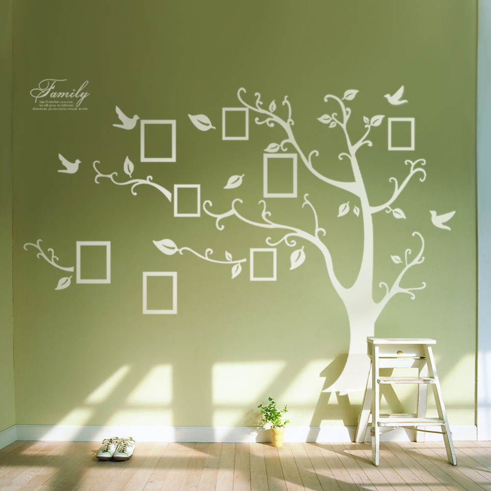 online get cheap huge family tree aliexpress com alibaba group diy 3d huge white memory tree branch wall stickers family wall decals photo frames wall arts