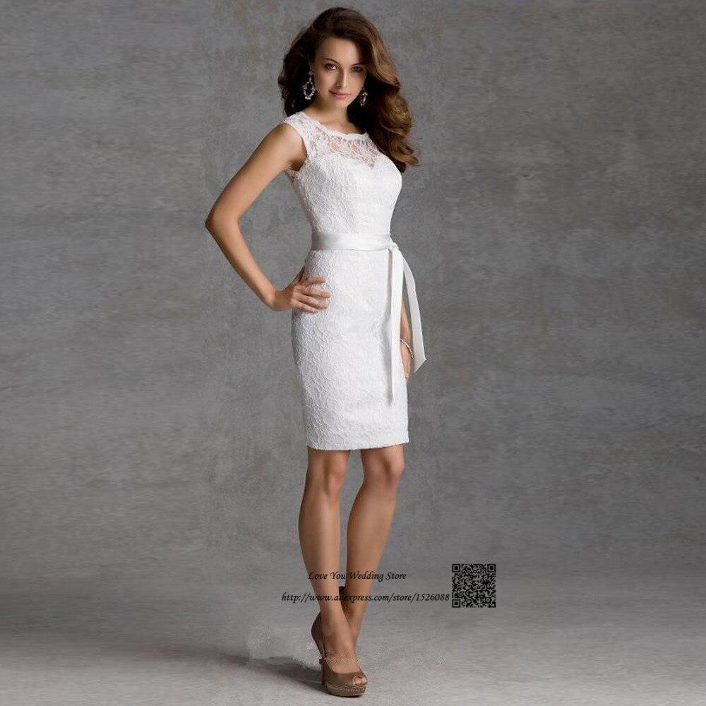 Vintage Lace Short Bridesmaid Dress White Black Open Back