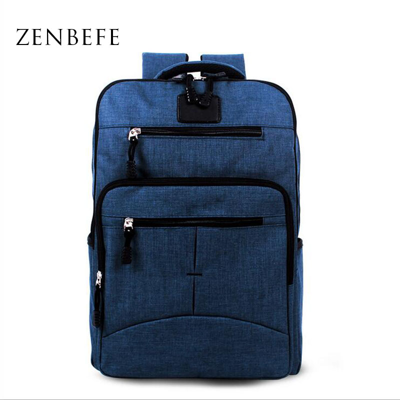 ZENBEFE Durable Men S Backpack Fashion Notebook font b Bags b font Linen Men Backpack Capacity