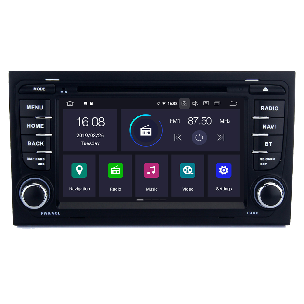 RoverOne For <font><b>Audi</b></font> <font><b>A4</b></font> S4 RS4 8E 8F <font><b>B6</b></font> B9 B7 Android 9.0 Autoradio Car <font><b>Multimedia</b></font> Player Radio Stereo GPS Navigation Head Unit DVD image