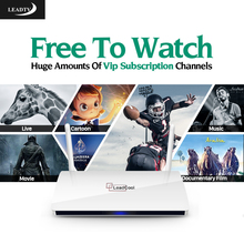 Leadtv IPTV Subscription 700 Europe Channels Leadcool Smart TV Box Android 4.4 Arabic French Germany Turkish Spanish IPTV Box