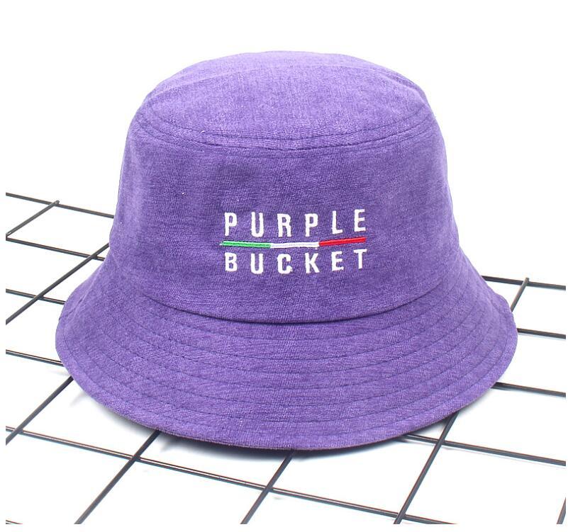31a08a1abc6 2018 Autumn Winter Purple Bucket Hat Corduroy Unisex Bob Caps Hip Hop  Gorros Men Women panama