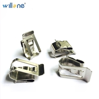 Willone 100pcs free shipping PV solar stainless steel cable clips for fixing solar cable