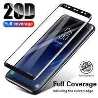 Verre de protection incurvé complet 20D pour Samsung Galaxy S8 S9 Plus Note 8 9 S7 protecteur d'écran trempé pour Samsung A8 A6 2018 Fil