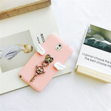 Sakura Card Captor for Samsung S6 S7 Edge S8 S8plus Pink Case for Samsung S6 S6edge Wings Star Moon Stick Cute Girl Fundas