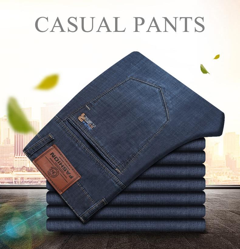 611ab56133c 2019 28 40 Brand Slim Fit Business Jeans For Men Summer Trendy ...