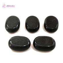 HIMABM 7.5*5.5*3cm 5PCS/ Pack Hot Stone Massage Set Of Sacrum Belly Basalt Lava Spa