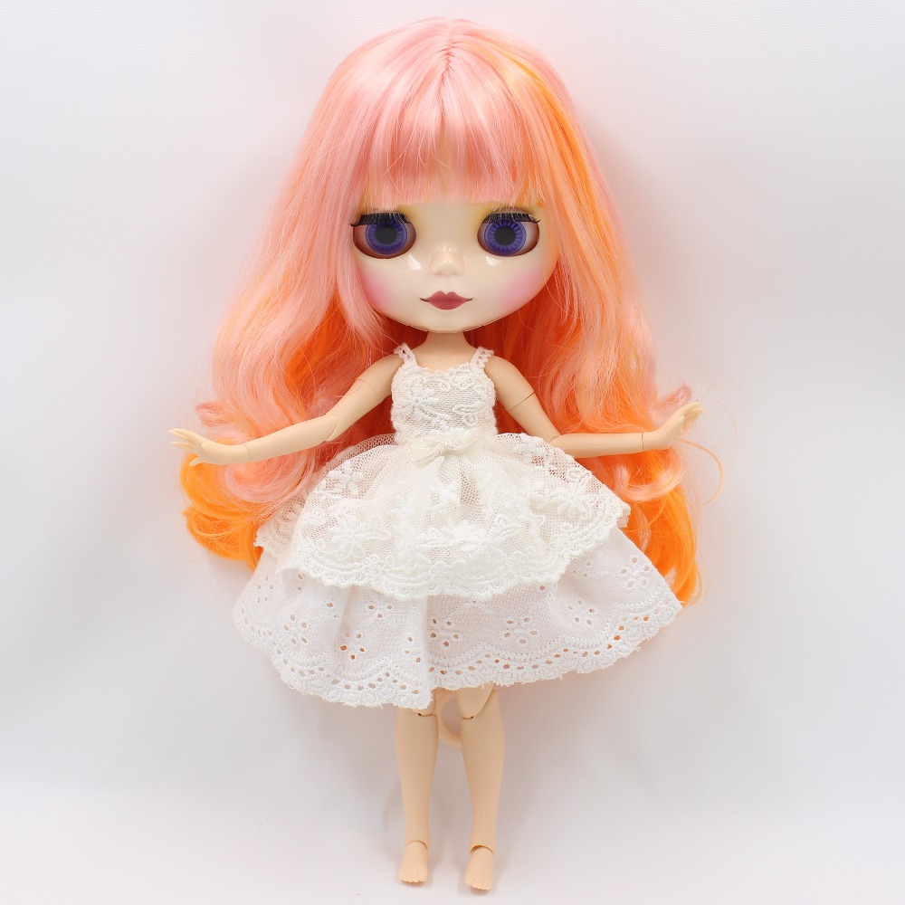 Neo Blythe Doll White Princess Lace Dress with Bow 2