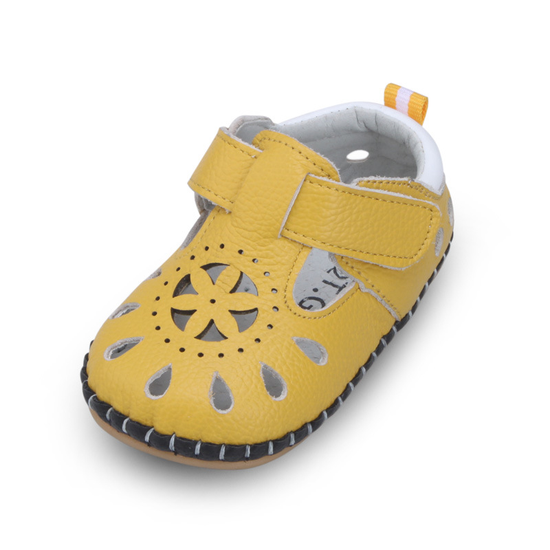 Summer Kids Baby Sandals Hollow Toddler Shoes Baby Girls/Boys Leather Soft Bottom Shoes Infant Anti-Skid Shoes Cut-Out Sandals
