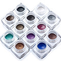 2017 new popular 12 color eyeliner + 50 eyeliner brush Draw eye makeup look line Christmas Holiday gifts birthday color makeup