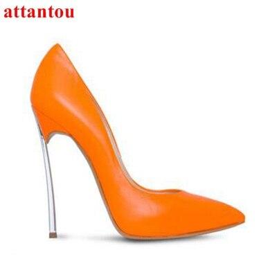 Mariage Talon Mince Tenues Slip Femmes Robe Des Talons Métal Picture on as Pompes Glaçure As Chaussures Surface Pointu De Orange Bout Mode Hauts En Z4FqwvFx